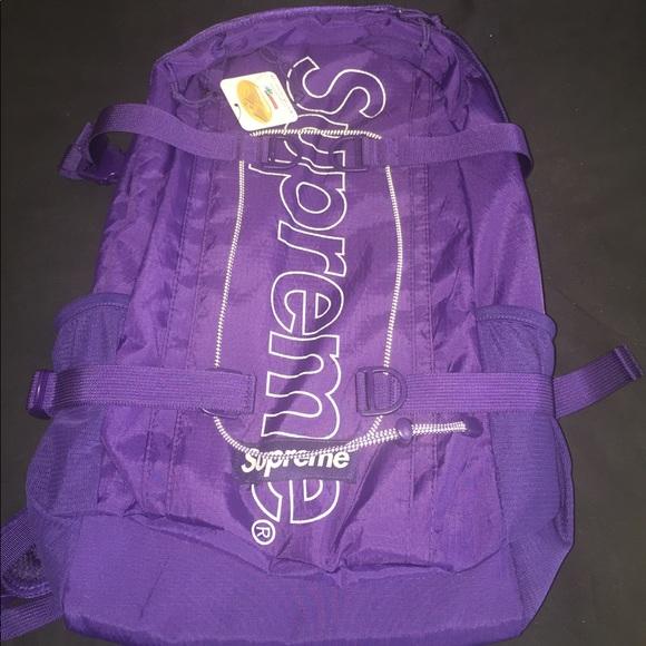 b06eb960edb Supreme FW18 Backpack - Purple NWT
